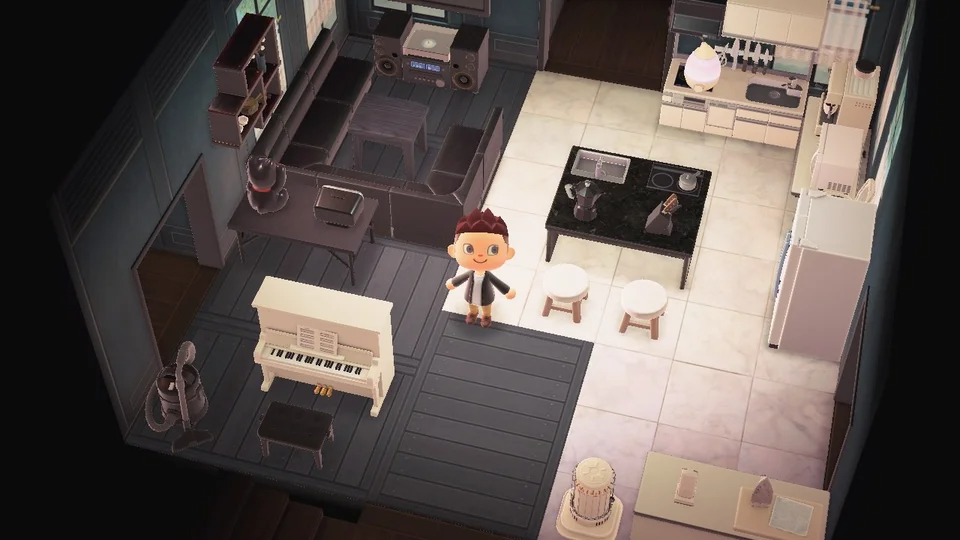 Yin Yang Living Room : AnimalCrossing in 2020 | Animal ... on Animal Crossing New Horizon Living Room Ideas  id=34266