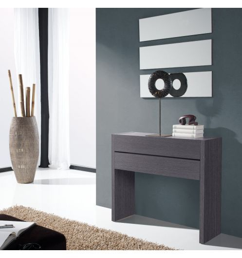 meuble console d 39 entr e bois gris. Black Bedroom Furniture Sets. Home Design Ideas