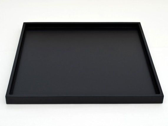 30 X 30 Extra Large Square Ottoman Tray Shallow Modern Coffee