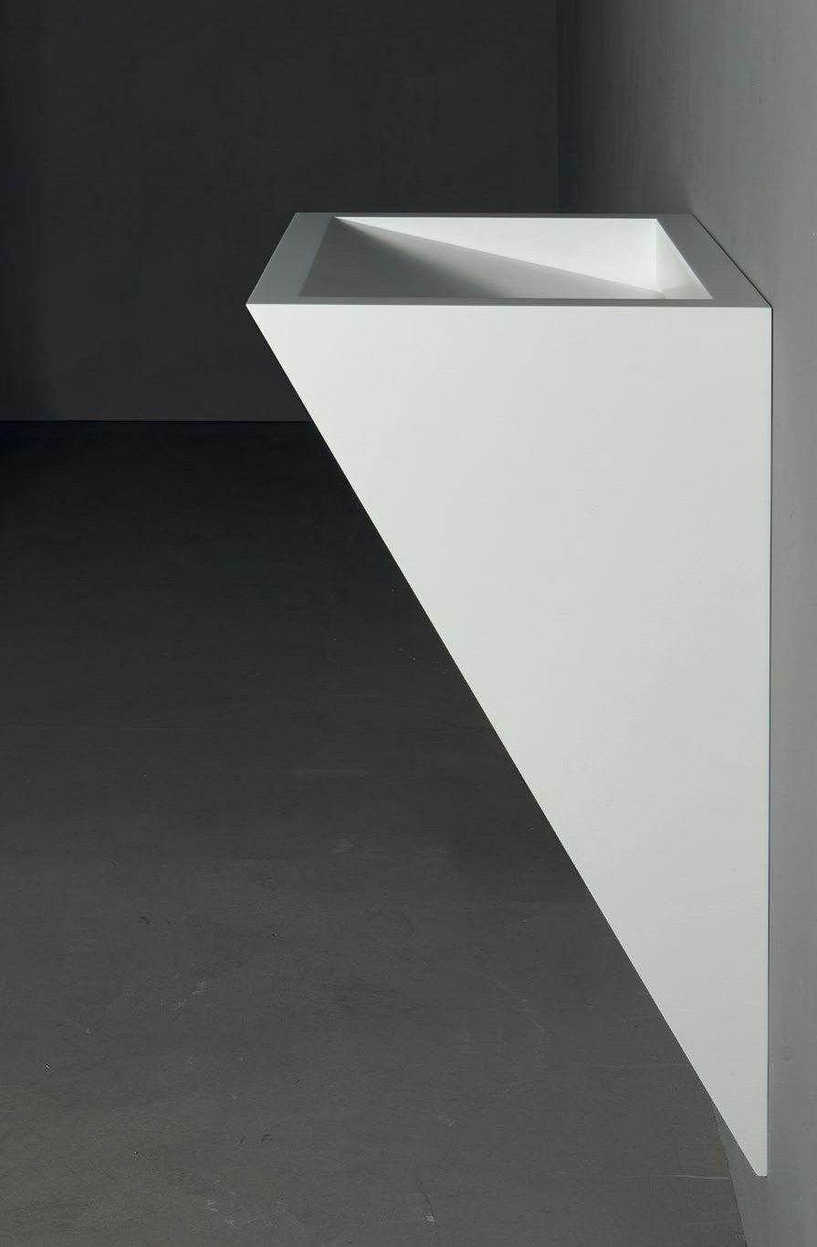 Wall mounted corian washbasin gap to wall 06 by rifra bathroom design pinterest wall - Van plan corian ...