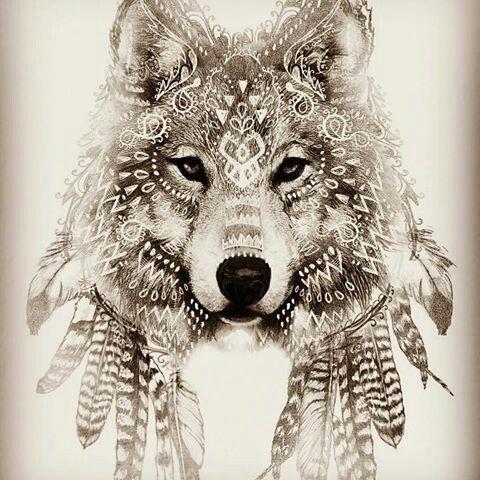 Pingl par michelle alexander leblanc sur wolves foxes etc pinterest - Tatouage loup mandala ...