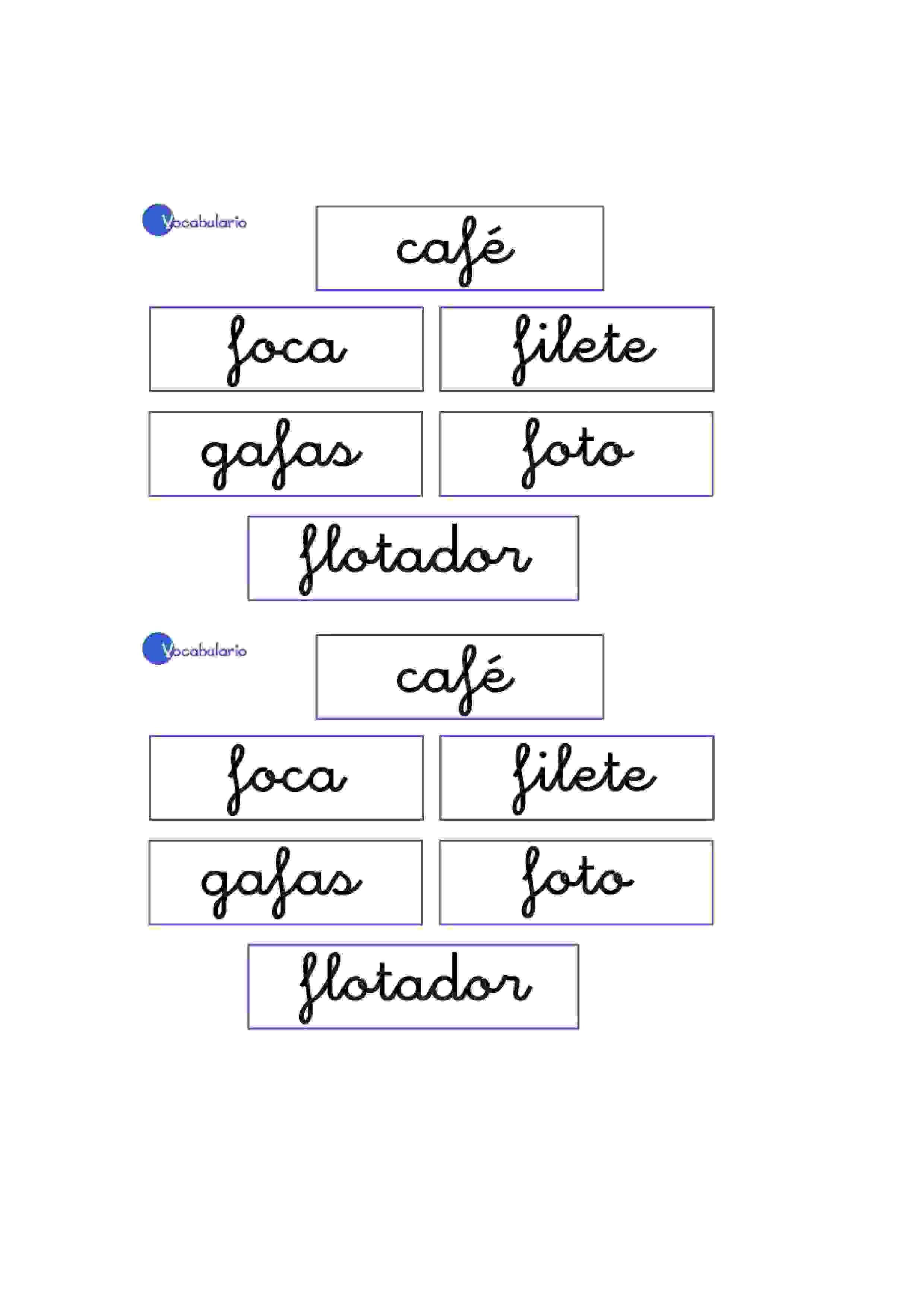 Lernübungen für kinder zu drucken. Vokabular Spanisch zu lernen 6 ...