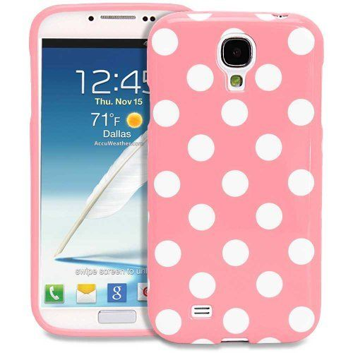 Fosmon DURA Series SLIM-Fit Case Protective Skin Cover for Samsung Galaxy S IV S4 SIV / I9500 - Polka Dots (Baby Pink) by Fosmon, http://www.amazon.com/dp/B00CP5K8P0/ref=cm_sw_r_pi_dp_moyesb0DVR70P