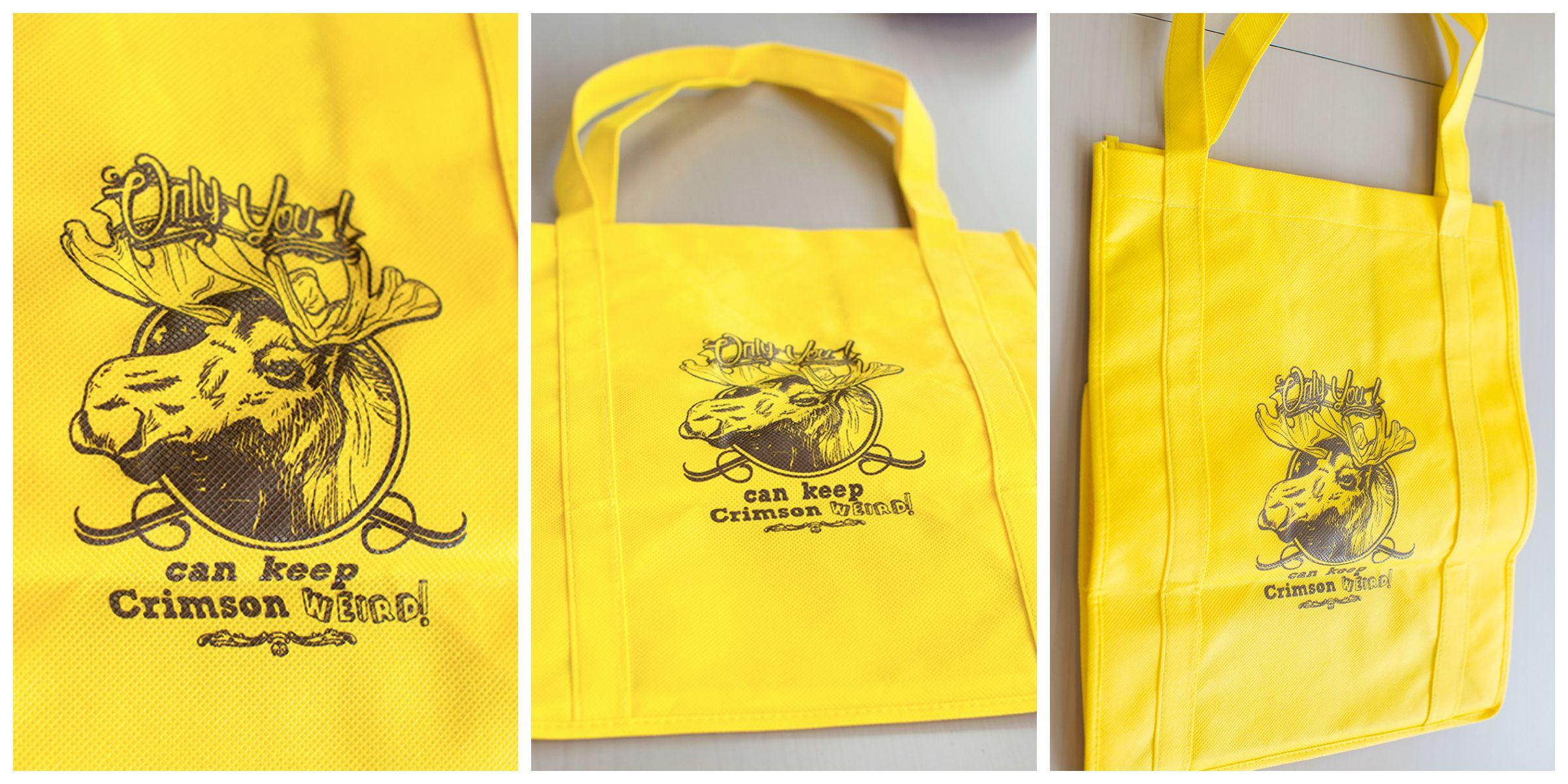 Crimson Moose Design Cloth Tote Bag Enviro Shopper