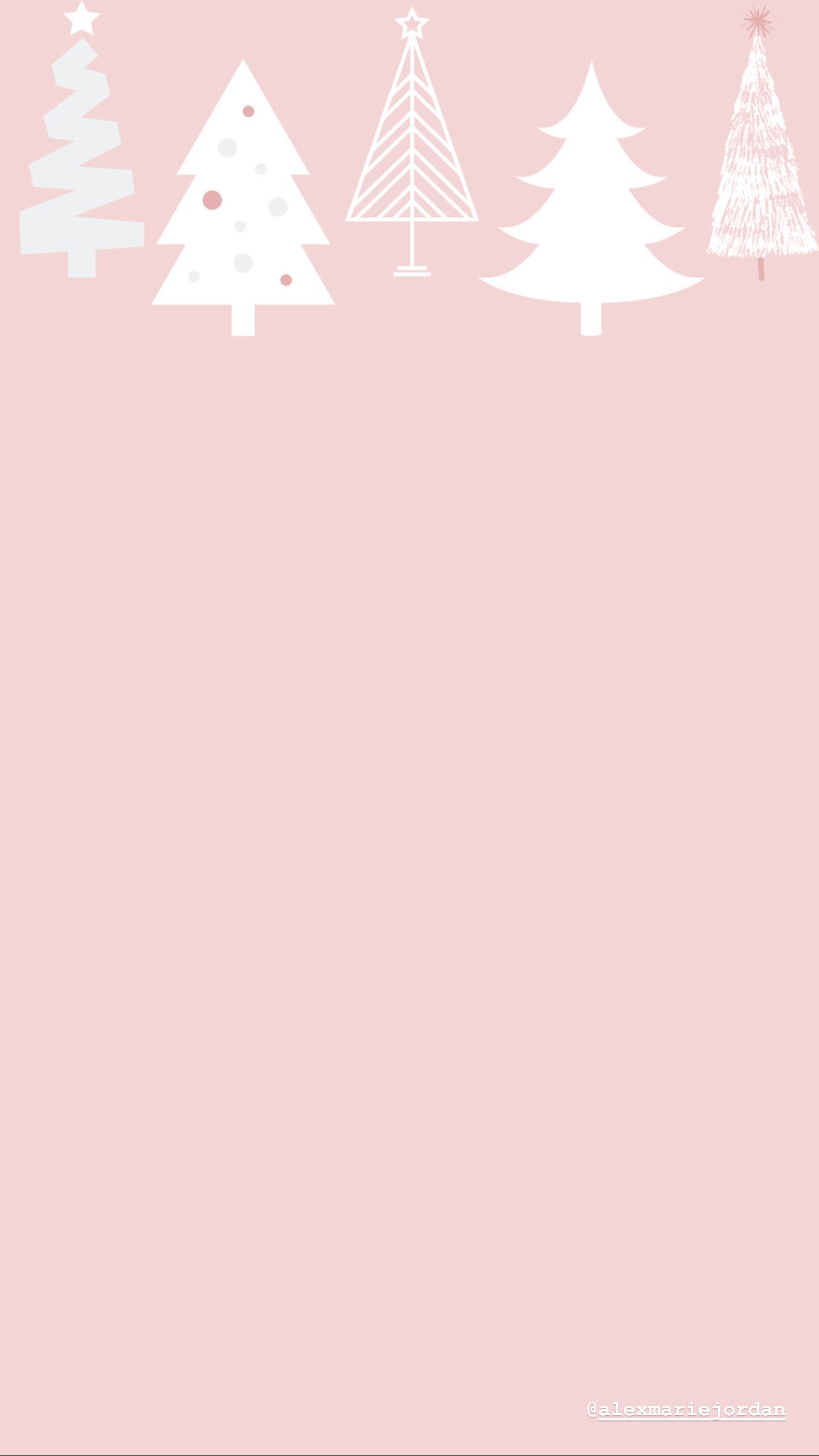 Pink Christmas Tree Wallpaper Xmas Wallpaper Wallpaper Iphone Christmas Christmas Phone Wallpaper