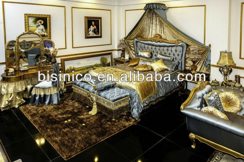 bedroom Classic Fur - Royal Elegant Classical Bedroom Furniture Set Bed, Bench, Night Stand, Mirrored Dresser, Chair, MOQ1SET(B21297), View antique bedroom furniture set, BISINI Product Details from Zhaoqing Bisini Furniture And Decoration Co , Ltd on Alibaba com #palletbedroomfurniture