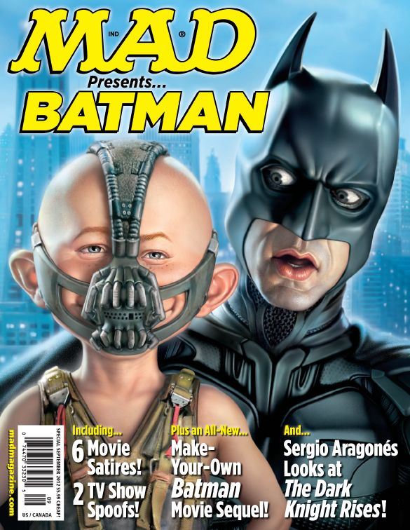 mad magazine covers mad presents batman bane the dark knight