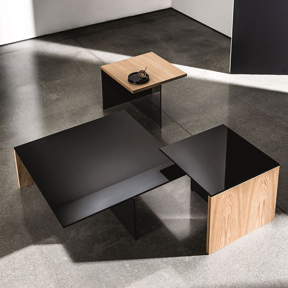 Regolo Square Glass And Wood Coffee Table In 2020 Coffee Table