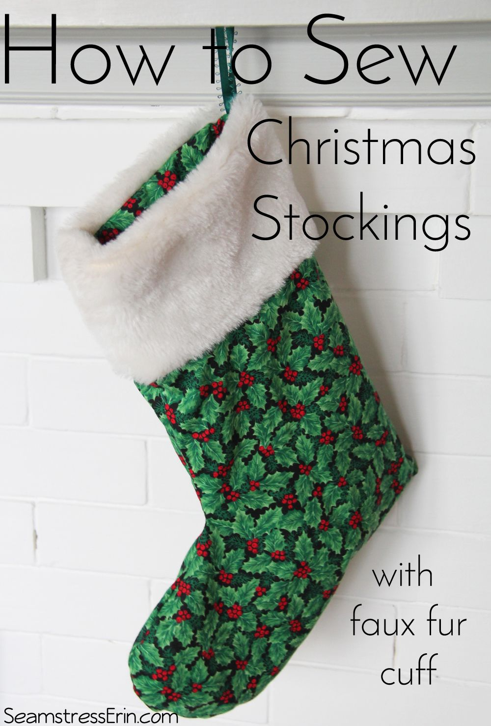How To Sew Christmas Stockings With A Faux Fur Cuff Christmas