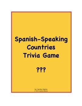 Spanish Speaking Countries Trivia Game How To Speak Spanish