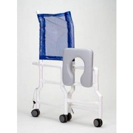 Pvc Hi Back Foldable Shower Commode Chair 1800wheelchair Com