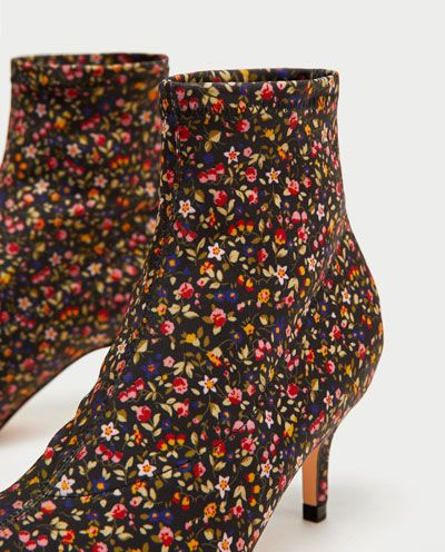 Image 4 of PRINTED HIGH HEEL ANKLE BOOTS from Zara