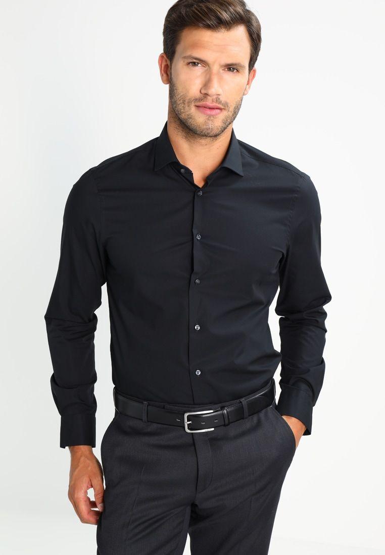 Tailored Fit Overhemd.Tommy Hilfiger Tailored Slim Fit Zakelijk Overhemd Black