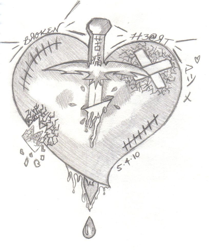 Kutsuu a broken heart with a dagger runniong through it the a broken heart with a dagger runniong through it the symbols on the biocorpaavc Images