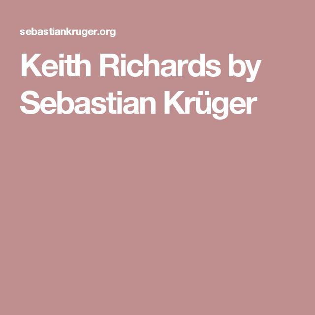 Keith Richards by Sebastian Krüger