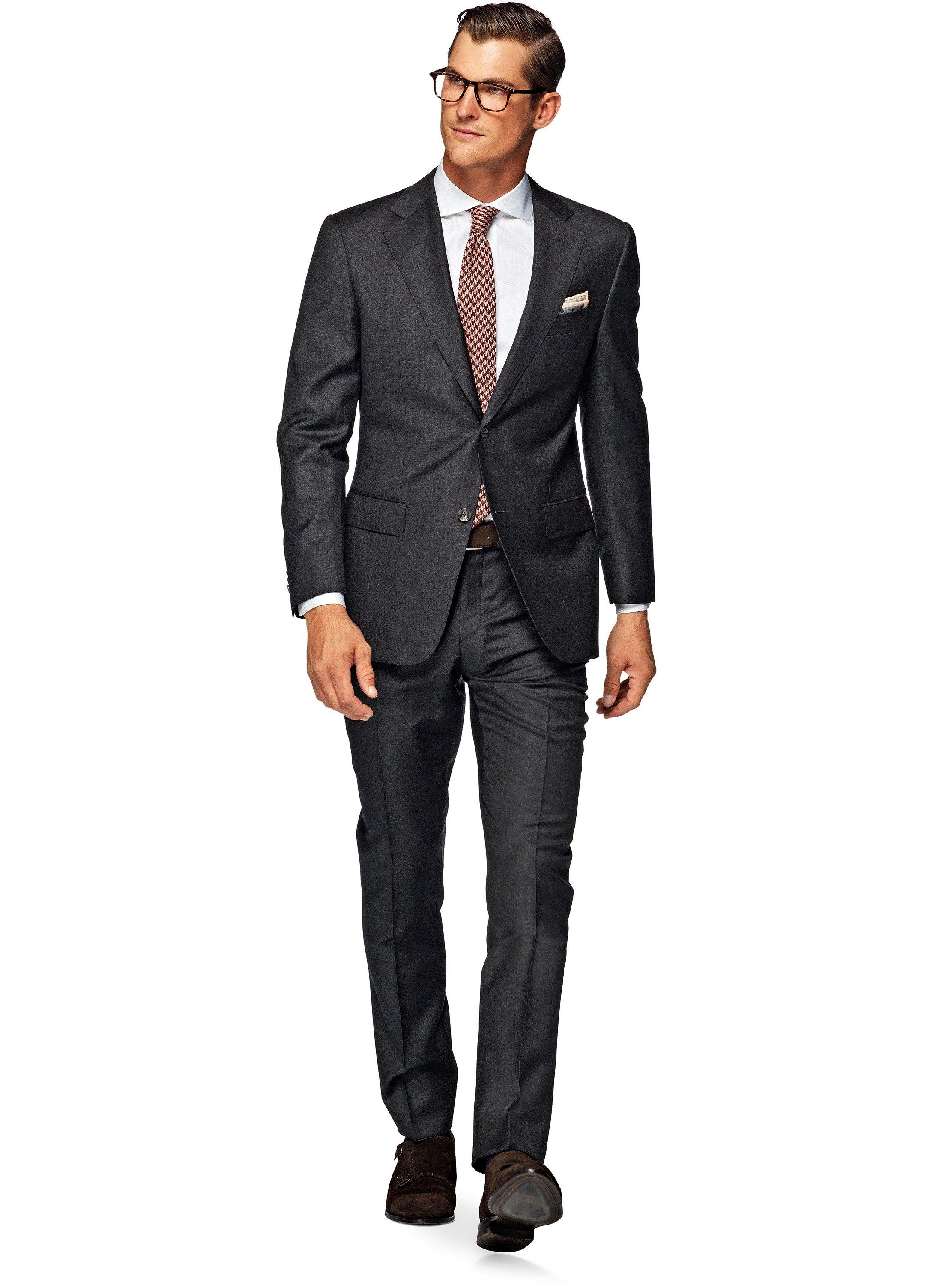 0953ffe191e810 Suit Dark Grey Plain Napoli P3755i – Suitsupply