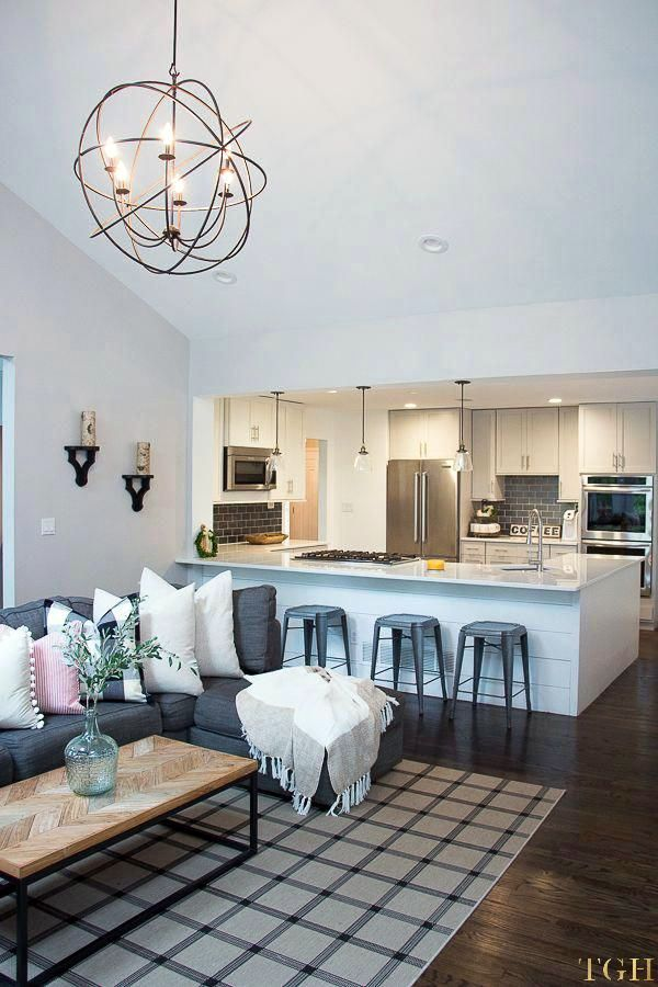 Best Open Concept Kitchen And Living Room Paint Colors For 2019 Open Concept Living Room Farm House Living Room Open Concept Kitchen Living Room