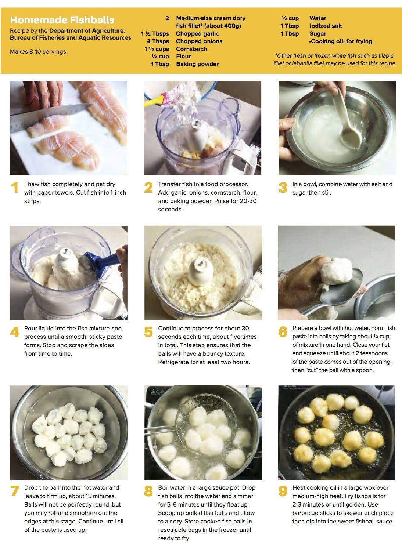 Homemade fishball filipino food dessert fishball recipe