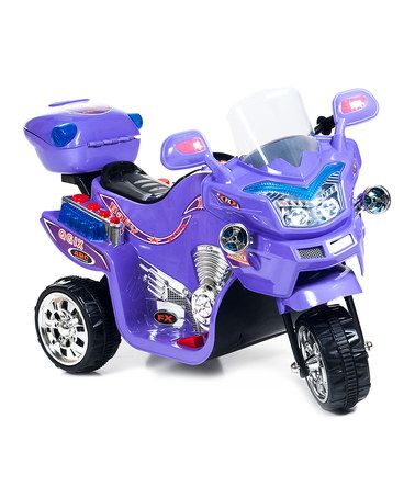 Another great find on #zulily! Purple FX 3 Motorcycle Ride-On #zulilyfinds