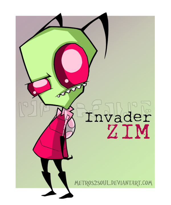 Just Zim By Metros2soul On Deviantart Invader Zim Characters Invader Zim Cartoon