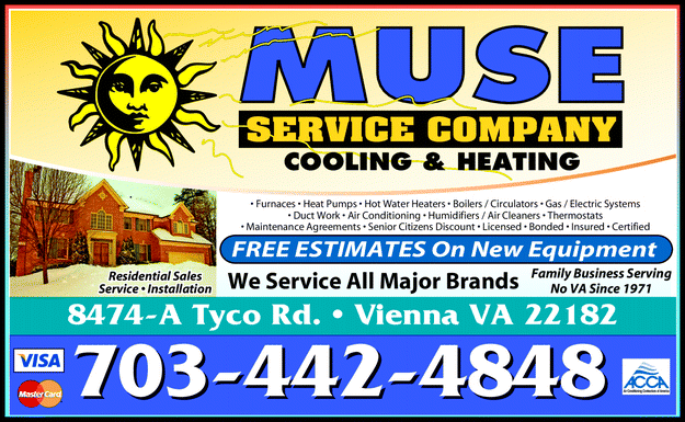 Menu For Muse Service Co Heating Cooling Heating And Cooling