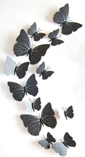 Wall Butterflies PVC Sticker Removable Decal Vinyl 27 X 18 Inch
