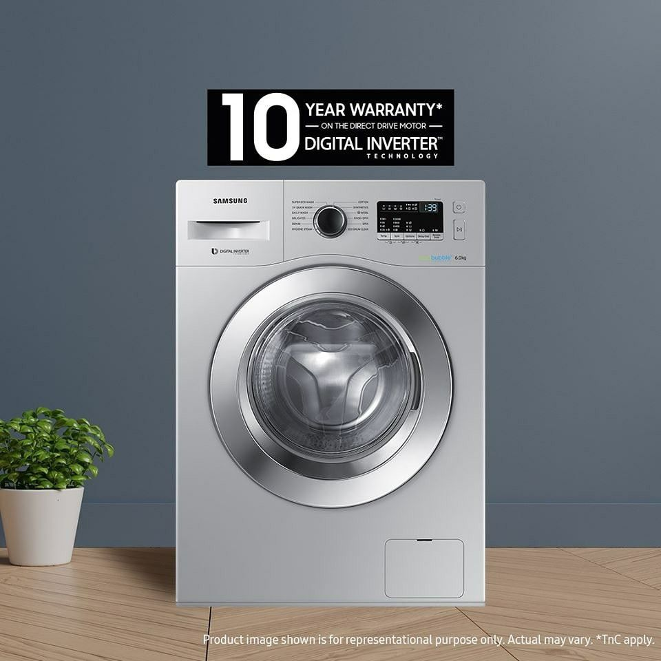 Presenting Samsung Frontload Washing Machine With Digital Inverter Motor And A 10 Year Long Warranty In 2020 Samsung Shopping Near Me Front Loading Washing Machine