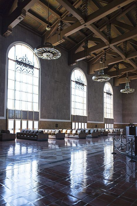 Los Angeles Union Station Original Ticket Lobby Vertical By Belinda Greb Union Station Union Architecture