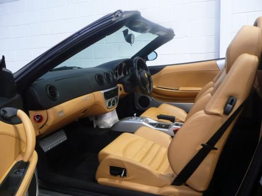 Luxury Tan Leather Interior Ferrari 360 Modena Spyder