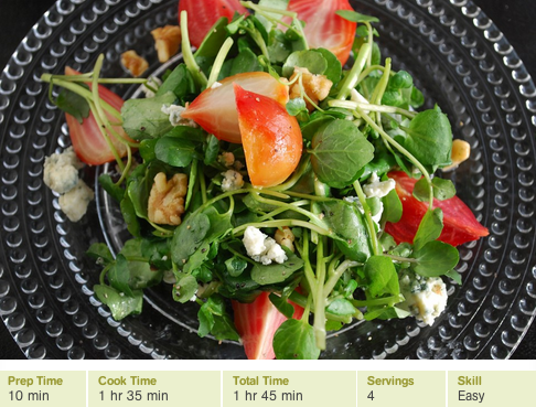 Watercress Salad with Baby Beets recipe from Cooking Planit #recipe #cooking #thanksgiving