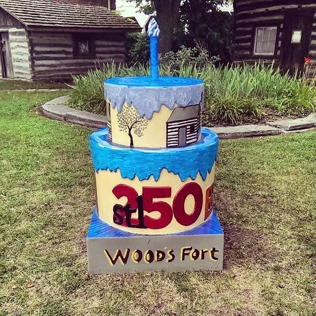 #stl250 Historic Fort Woods Birthday Cake | Fort wood ...