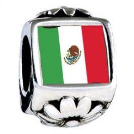 Mexico Flag Photo Flower Charms Fit pandora,trollbeads,chamilia ...