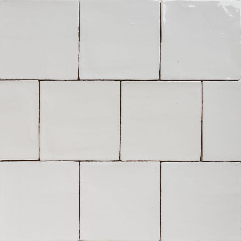 Handmade Natura Gloss White Tiles 130 130