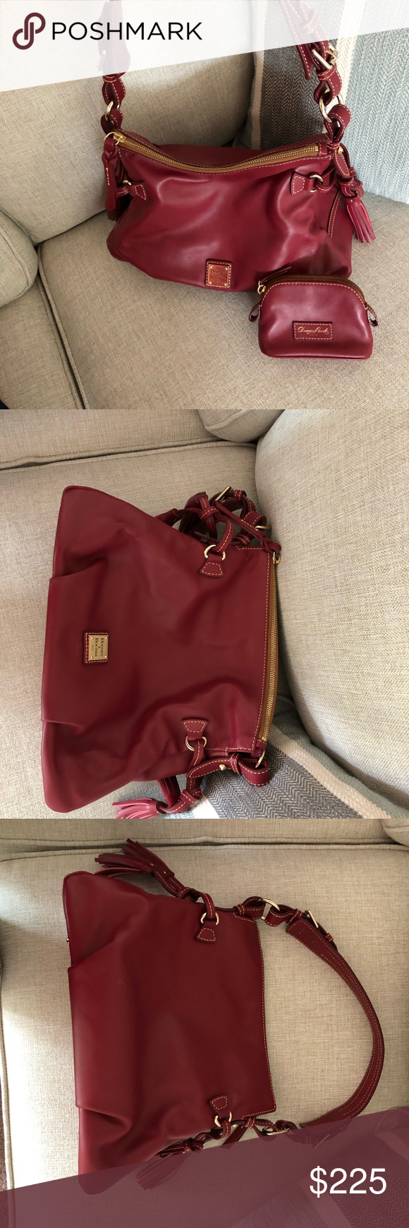Dooney & Bourke Teagan Mulberry Bag and pouch EUC Perfect condition carried once Dooney & Bourke Bags Shoulder Bags #mulberrybag Dooney & Bourke Teagan Mulberry Bag and pouch EUC Perfect condition carried once Dooney & Bourke Bags Shoulder Bags #mulberrybag