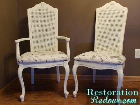 Cane Back Chair Makeover Restorationredoux