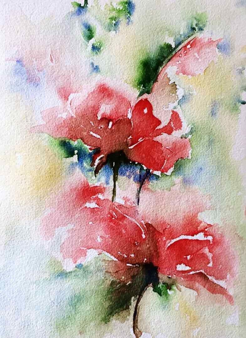 Beautiful Watercolor Paintings Of Flowers