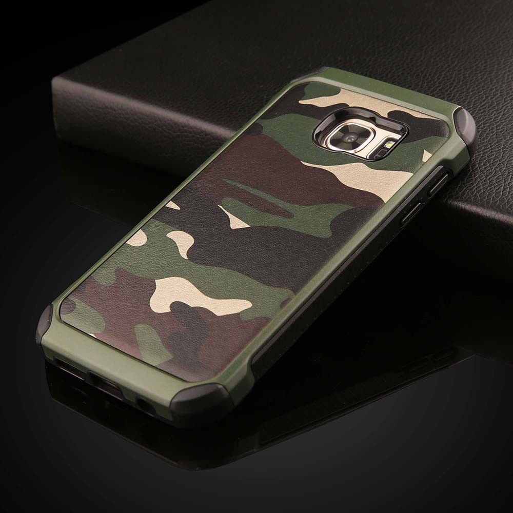 RobotSky 2 in 1 Army Camo Camouflage Hybrid Armor Capa Cases for Samsung Galaxy S7 S7edge S7 edge G9350