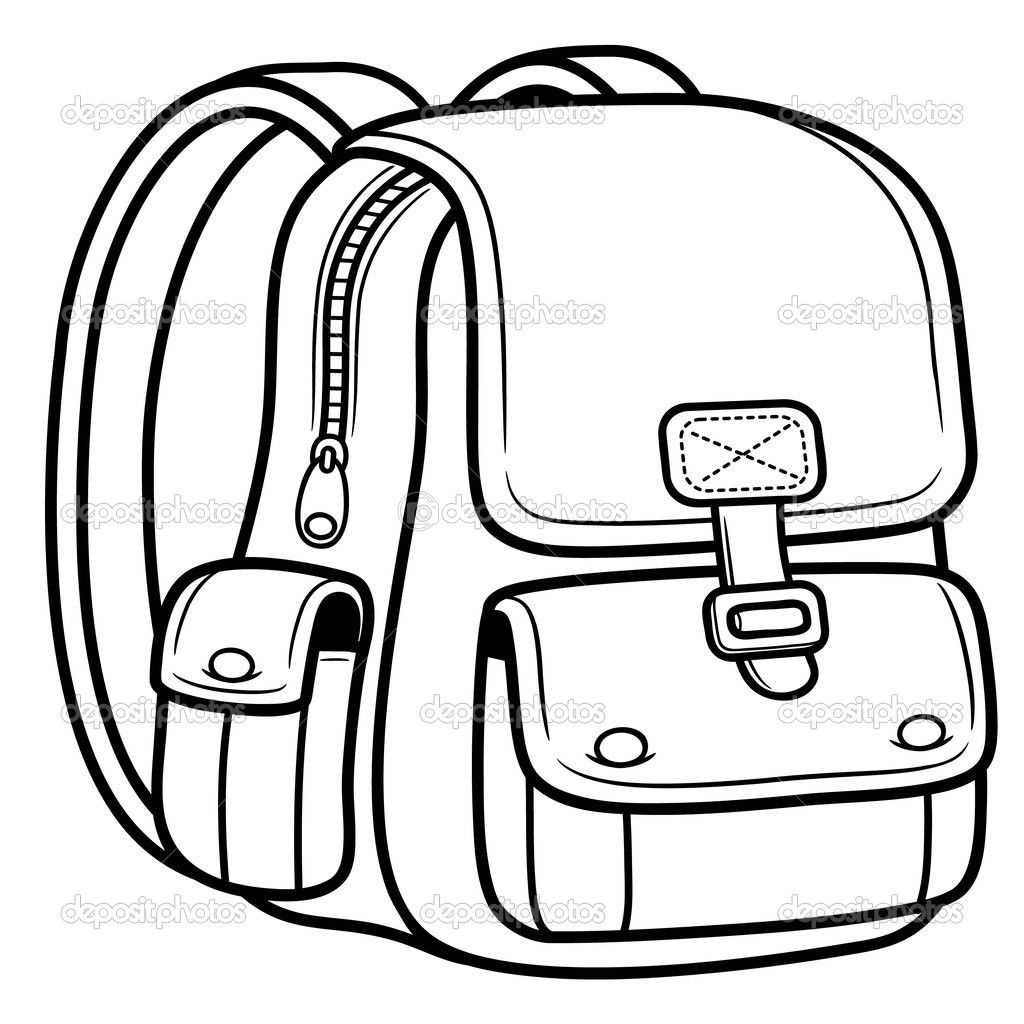 Bag Coloring Page For Kids Cute School Bags School Bags Bag