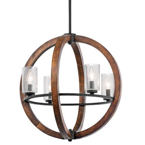 Kichler Grand Bank 4 Light 20 Wide Chandelier with Seedy Glass