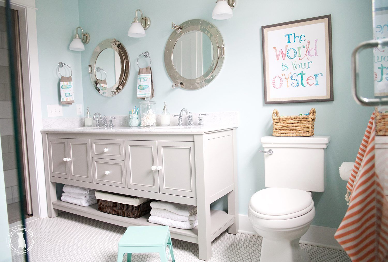 Photo of kids bathroom sources – The Handmade Home