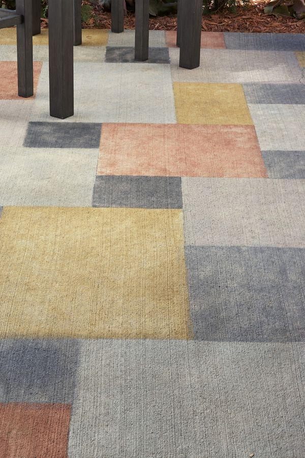 How to paint concrete Concrete floor Pinterest Jardins, Idee - Peindre Une Terrasse En Beton
