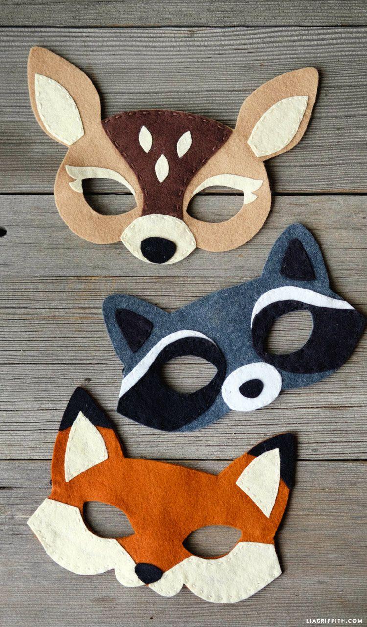 Felt Woodland Masks | Niños | Pinterest | Fieltro, Antifaz y Mascaras