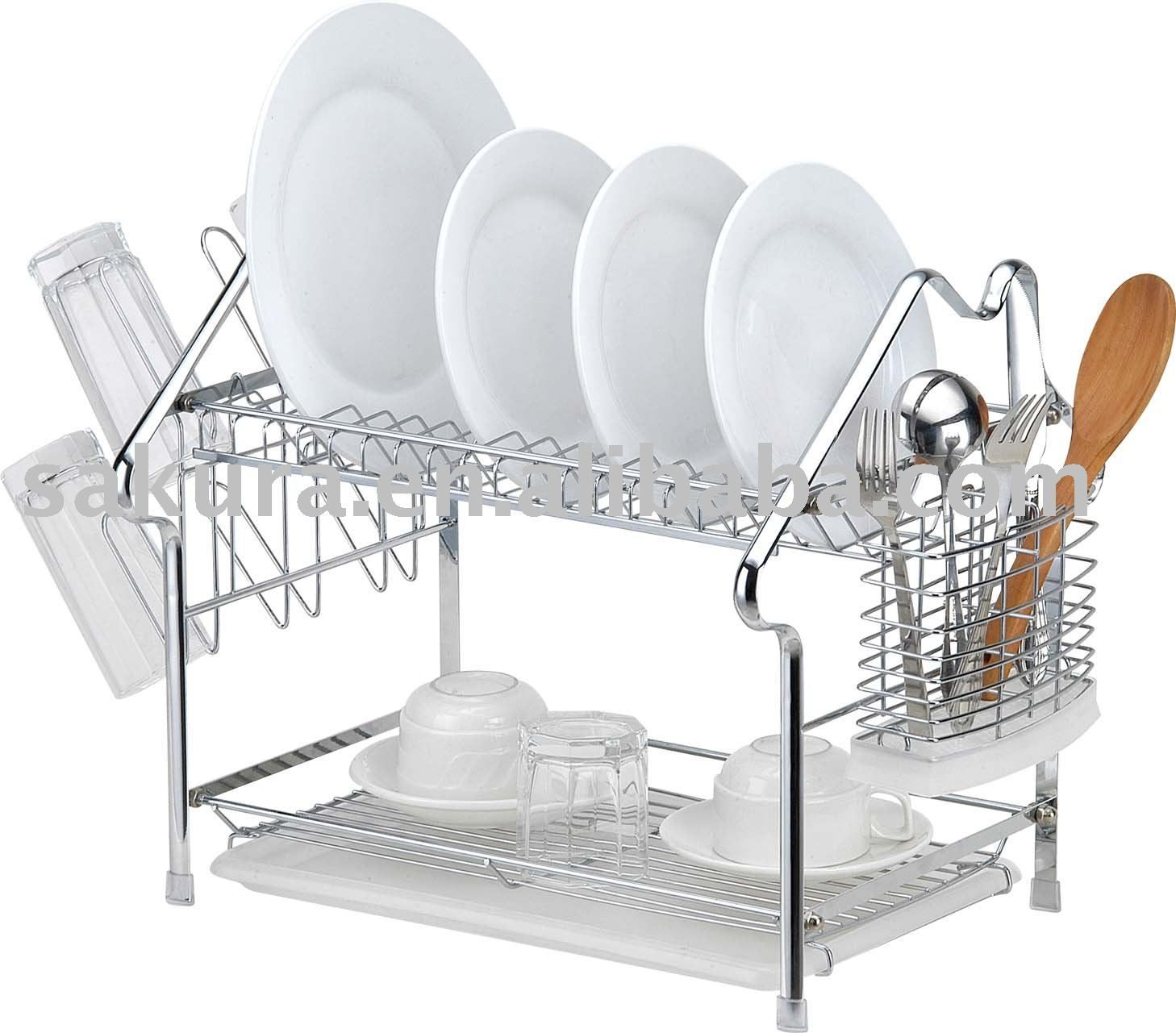 House Shape Metal Dish Rack,Plate Rack,Dish Drainer,Kitchen Accessory Photo,