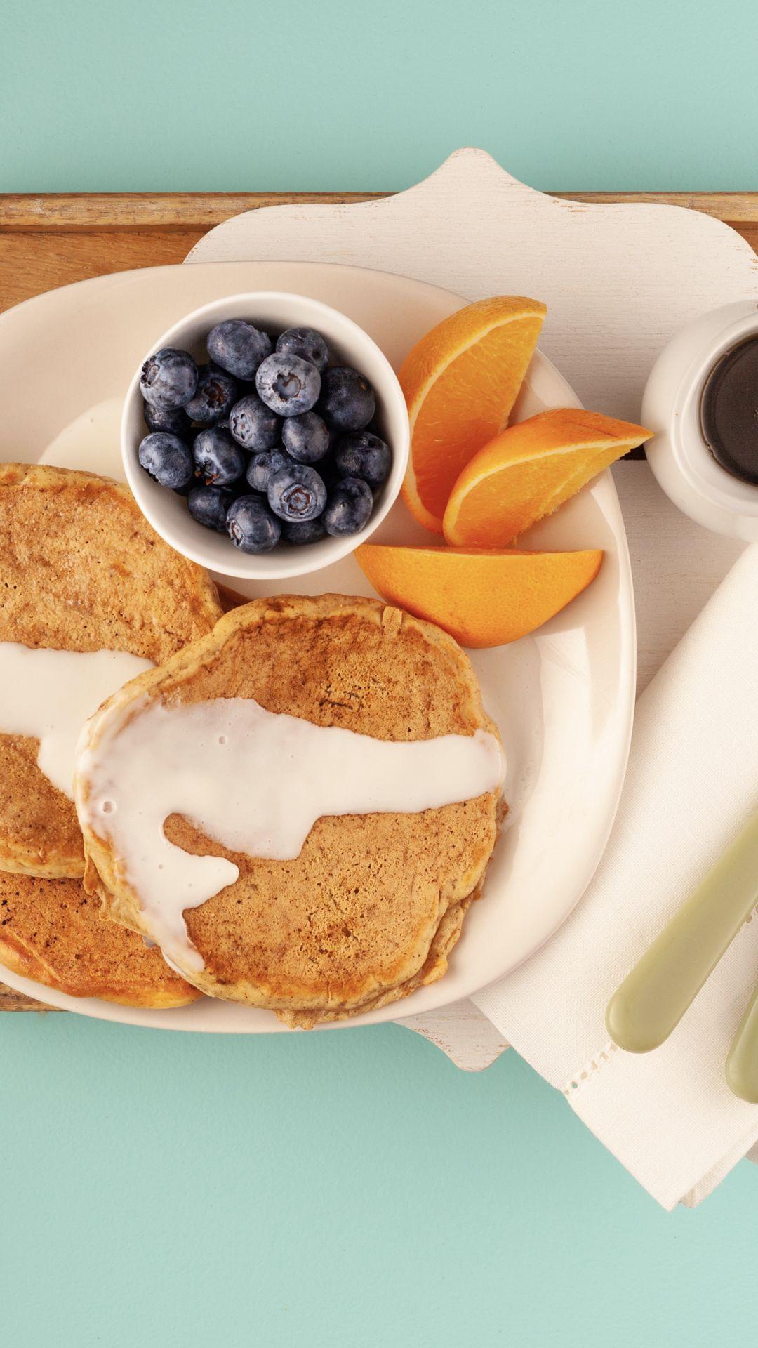 Carrot cake pancakes with greek yogurt frosting recipe
