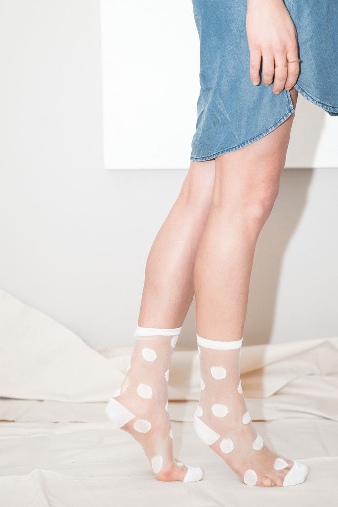 Hansel From Basel Sheer Polka Dot Socks