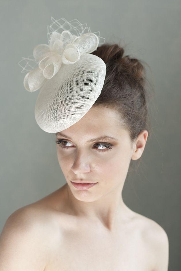 Haarschmuck Kopfputz Elfenbein Braut Hut Mit Blumen Und