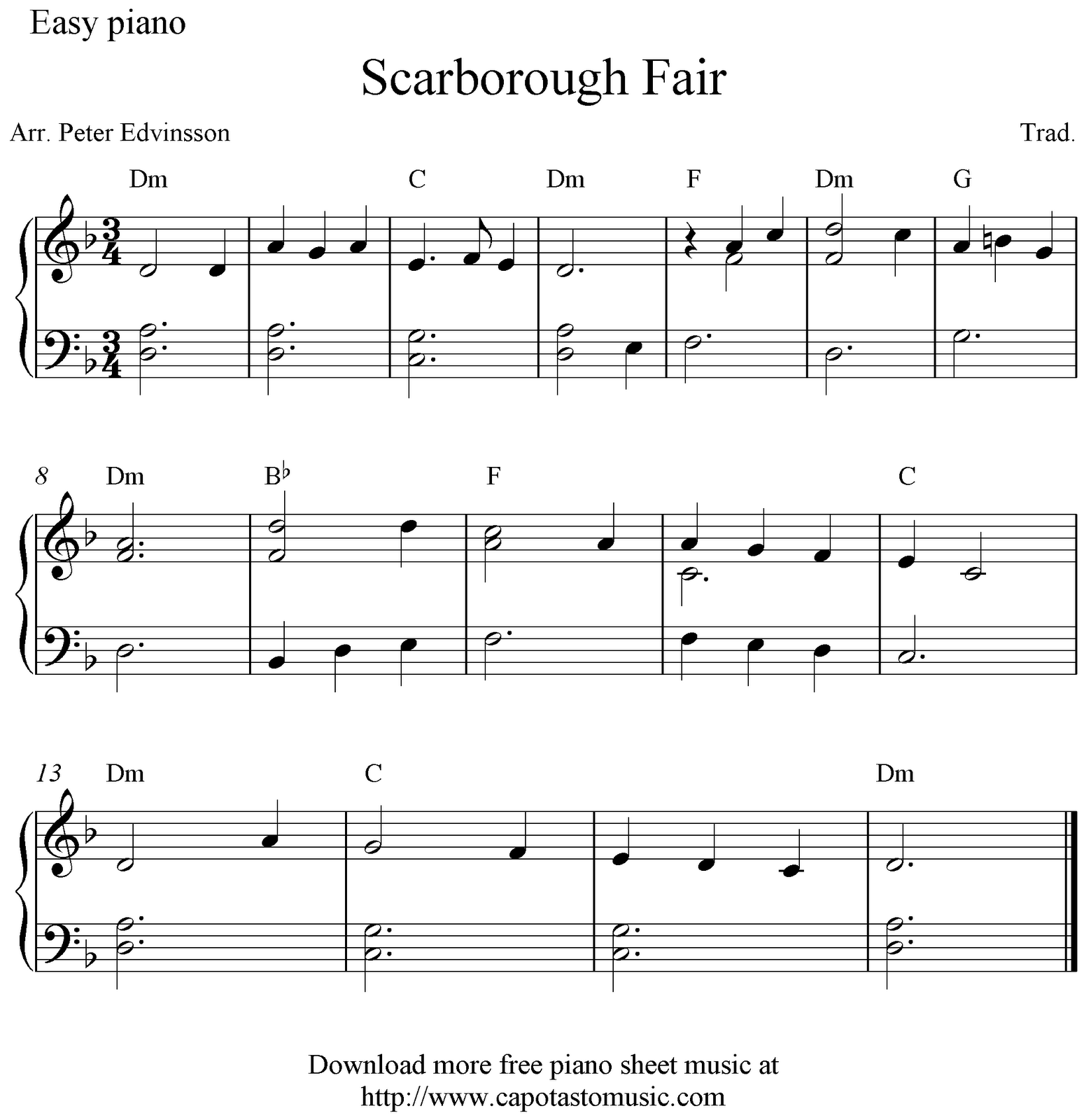 Free Sheet Music Scores Piano