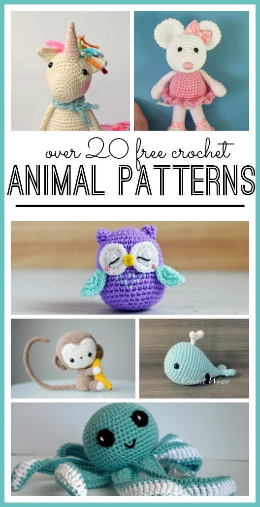All Free Crochet Patterns: 20 Free crochet animal patterns | Crochet ...