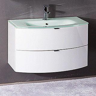 Salsa Tao Waschtisch Breite 80 Cm Glas Weiss Klar Spiegelschrank Waschtisch 80 Cm Unterschrank