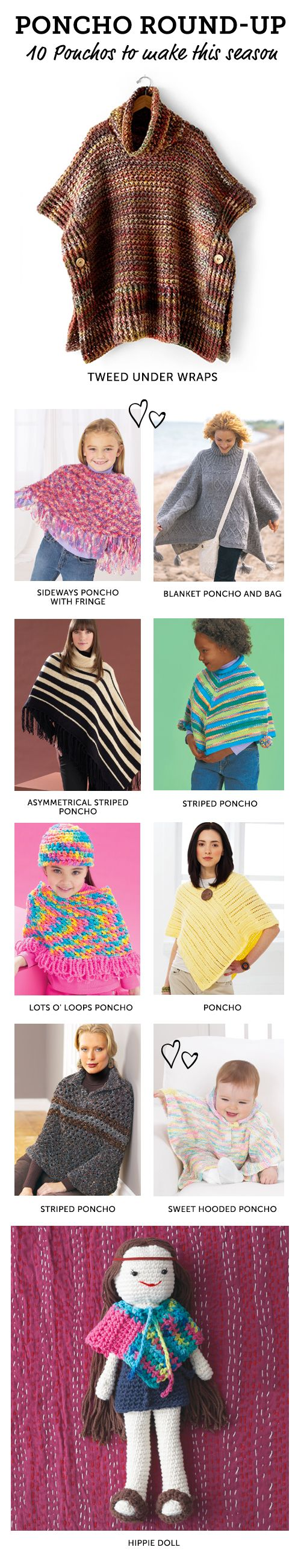 Perfect knit and crochet ponchos for fall and winter from ...